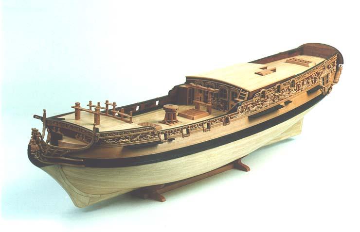 Модель: 74-пушечный корабль по чертежам Ж.Будрио.